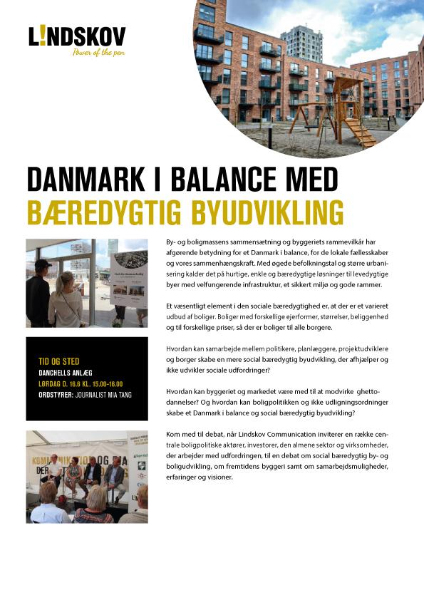 Bæredygtig byudvikling - Folkemødet 2018 - Lindskov
